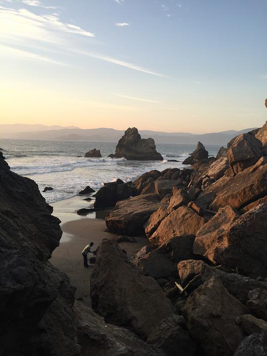 San Francisco, Nature, Cliffs, Rocky, Ocean