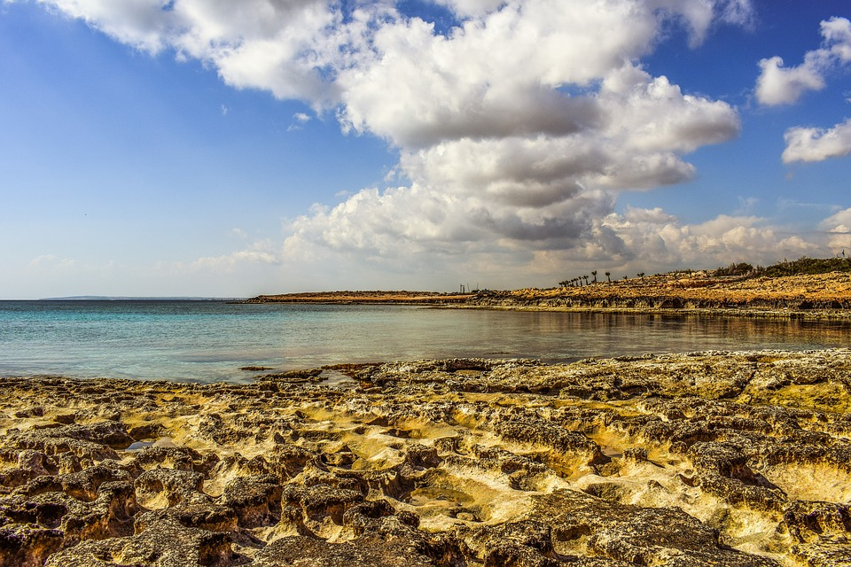 Beach, Rocky, Nature, Sea, Landscape, Sky, Clouds