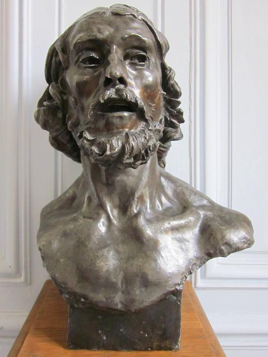 Saint John The Baptist, Rodin, Bust, Bronze, Sculpture