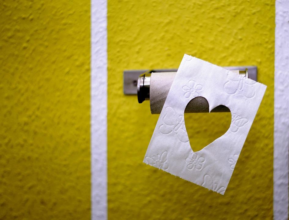 Toilet Paper, Role, Hygiene, Empty, Leaf, Heart, Last