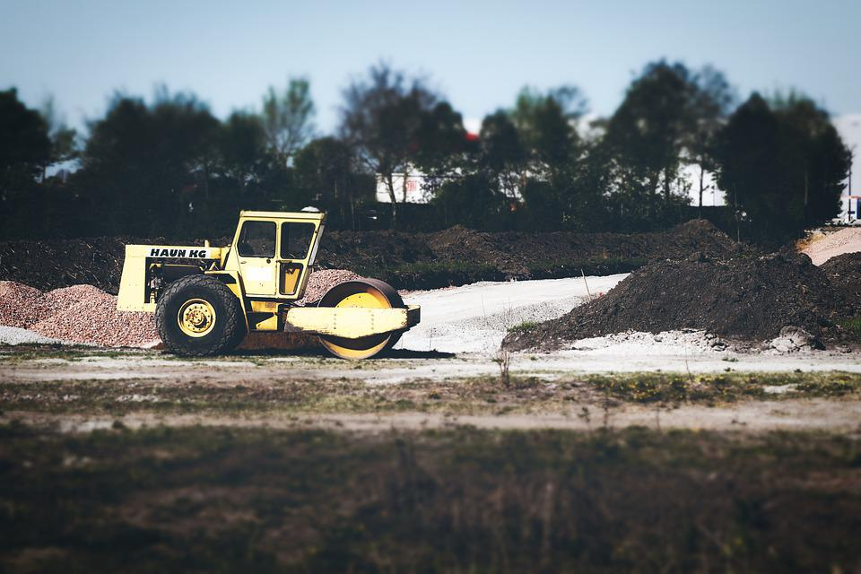Site, Roll, Work, Road Construction, Machine