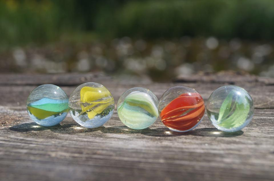 Marbles, Glaskugeln, Colorful, About, Glass, Roll