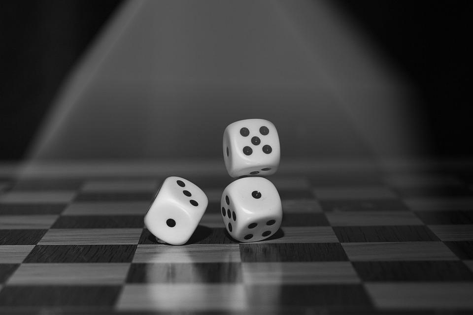 Dice, Game, Monochrome, Roll The Dice, Board Game