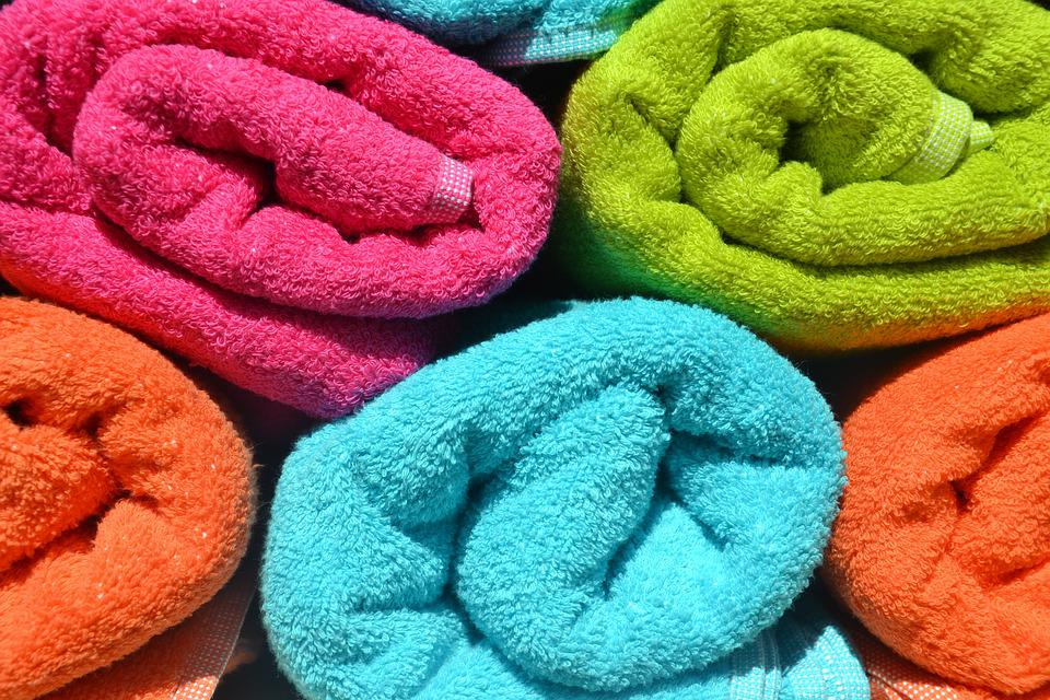 Towels, Colorful, Rolled, Color, Terry