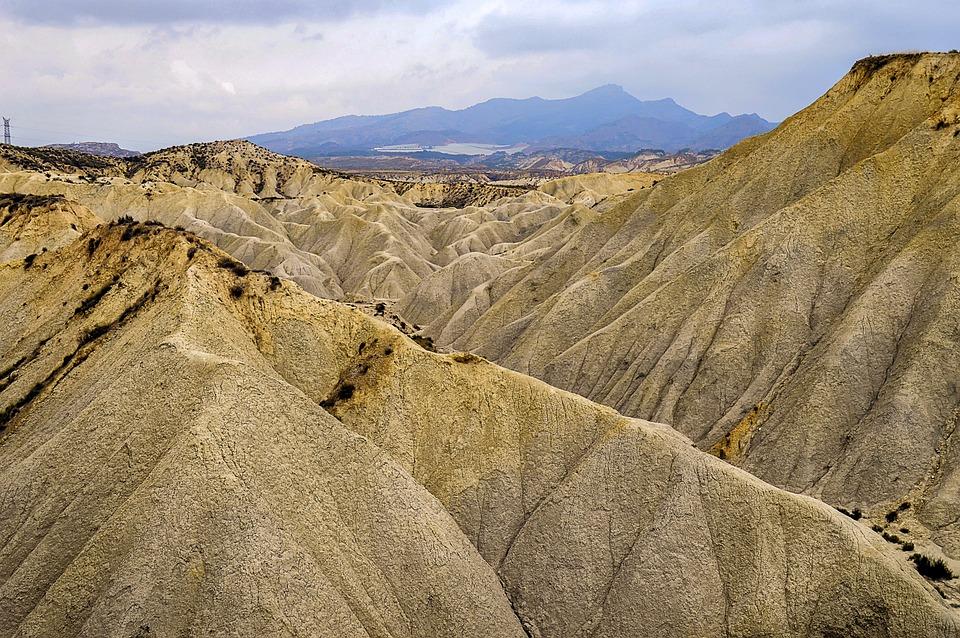 Desert Landscape, Desert, Rolling Mountains