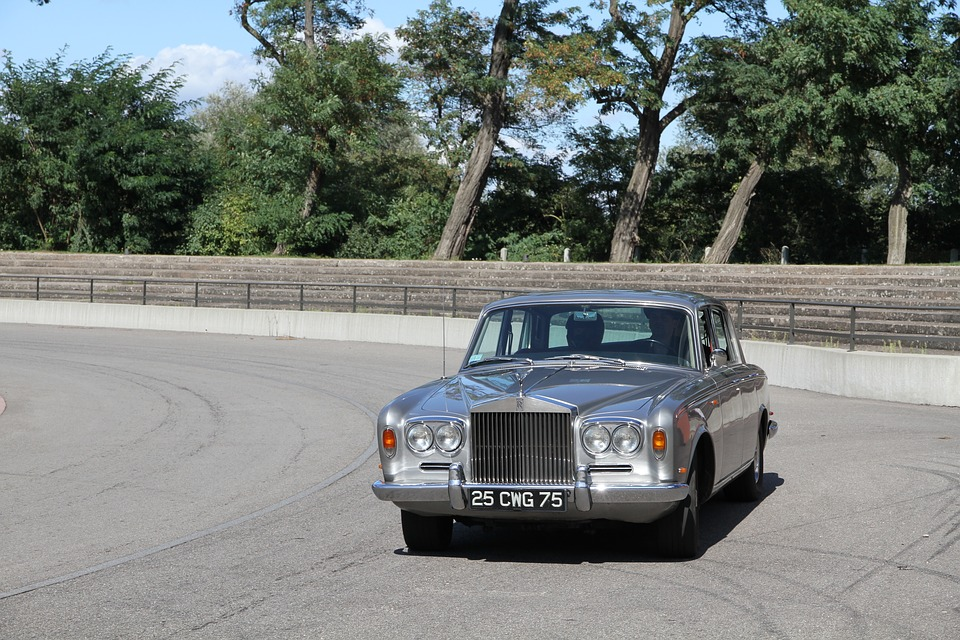 Car, Old Clock, Retro, Rolls Royce, Automatic, Way