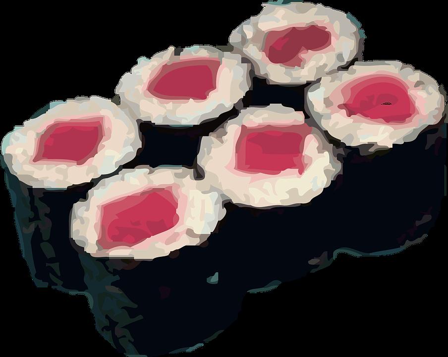 Sushi, Rolls, Rice, Japenese, Raw, Seafood, Oriental