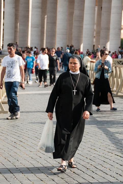 Nun, Rome, Roma, Vatican, Religion, Church, Religious