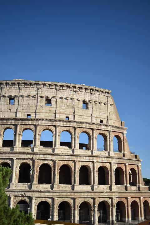 Rome, Coliseum, Antique, Italy, Roman