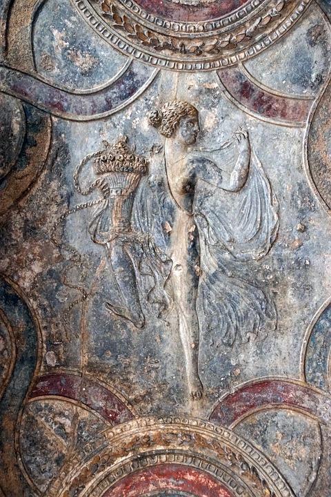 Pompeii, Fresco, Sculpture, Roman, Antique, Italy