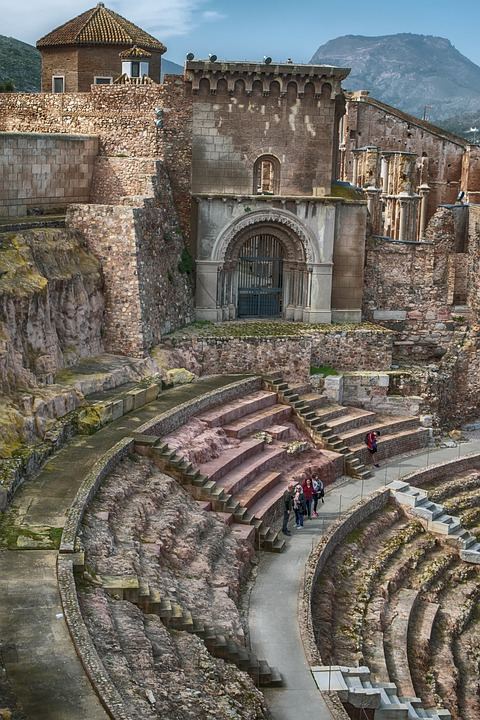 Ruins, Roman Theatre, Monument, Old, Historical