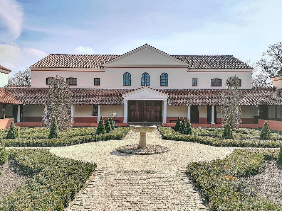 Villa, Roman Villa, Museum, Hdr Image, History, Roofs