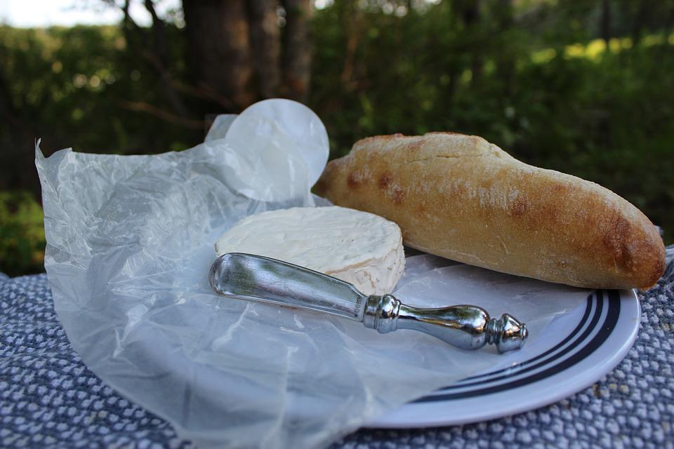 Food, Picnic, Bread, Cheese, Romance, Simple, Baguette