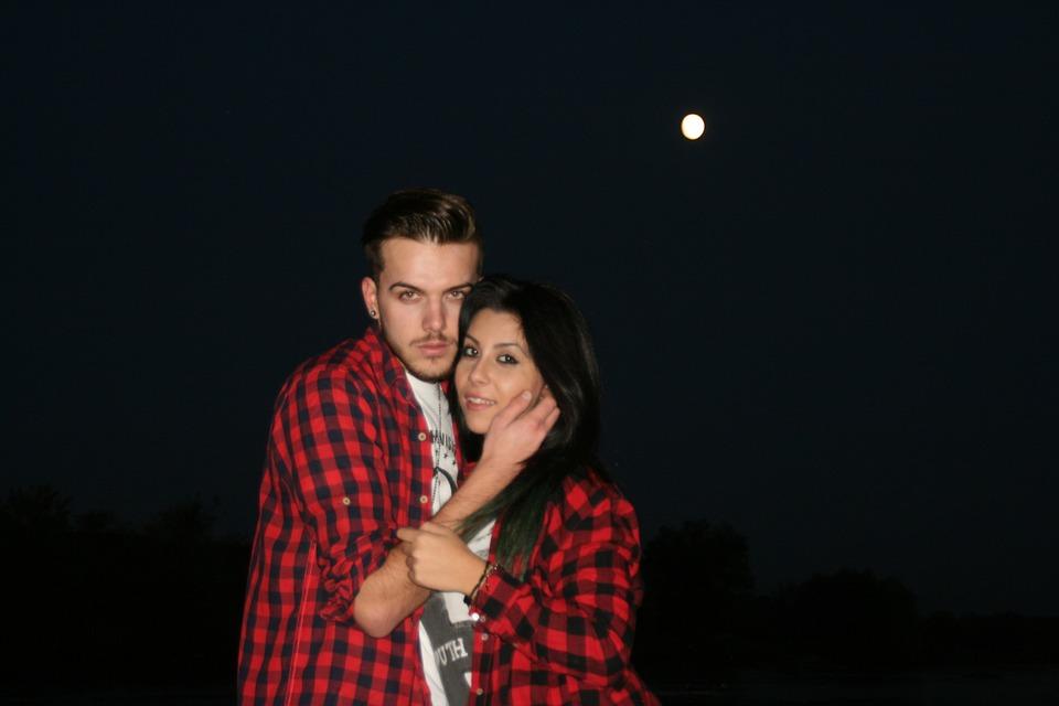 Couple, Love, Luna, Night, Beauty, Romance, Water