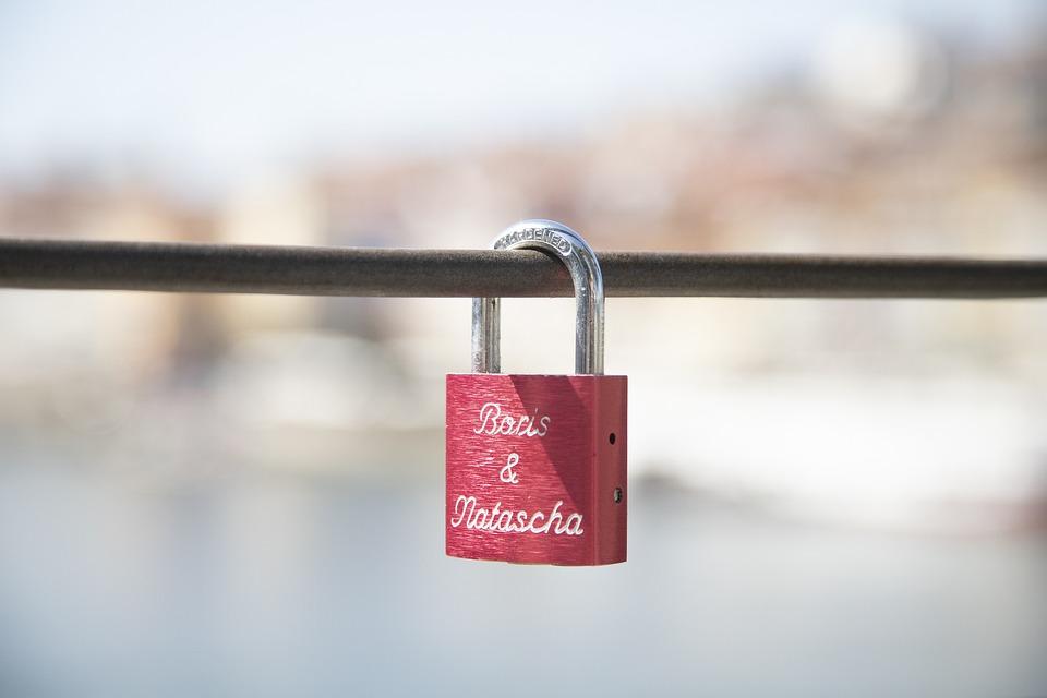 Padlock, Red, Travel, Love, Eternity, Romance, Couple