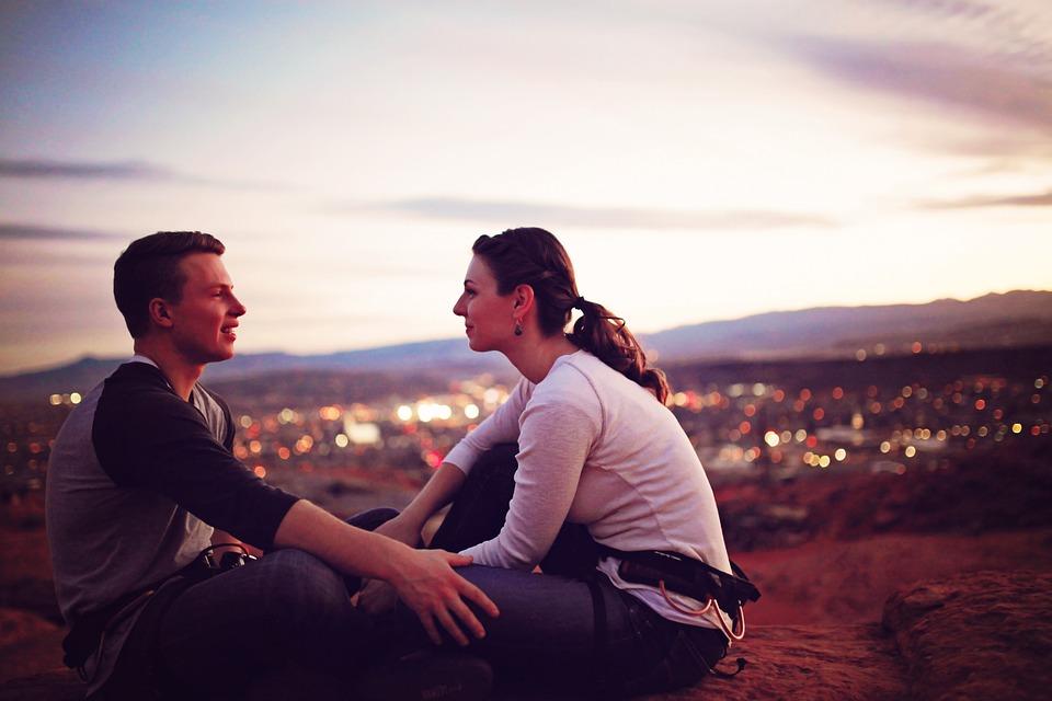 Sunset, Romance, Love, Man, People, Outdoors, Nature