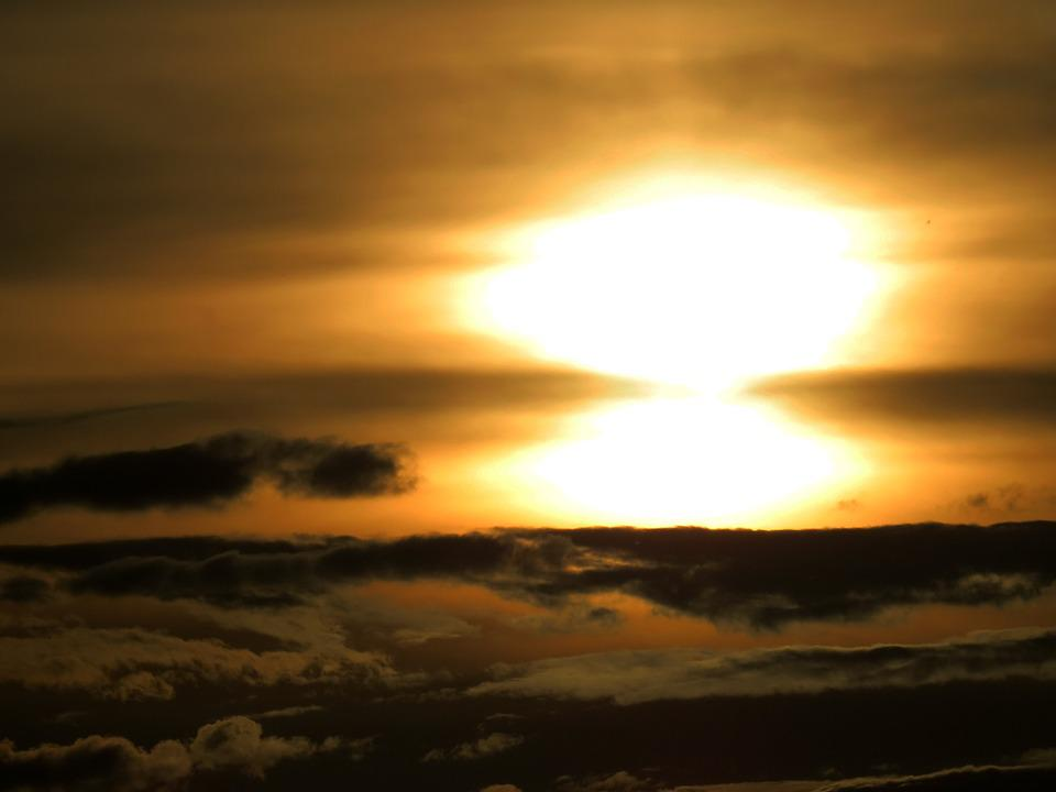 Sunset, Abendstimmung, Romance, Nature, Double Sun
