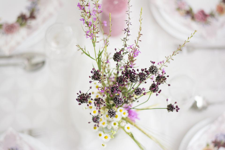 Flowers, Wedding, Romantic, Table, Floral, Romance