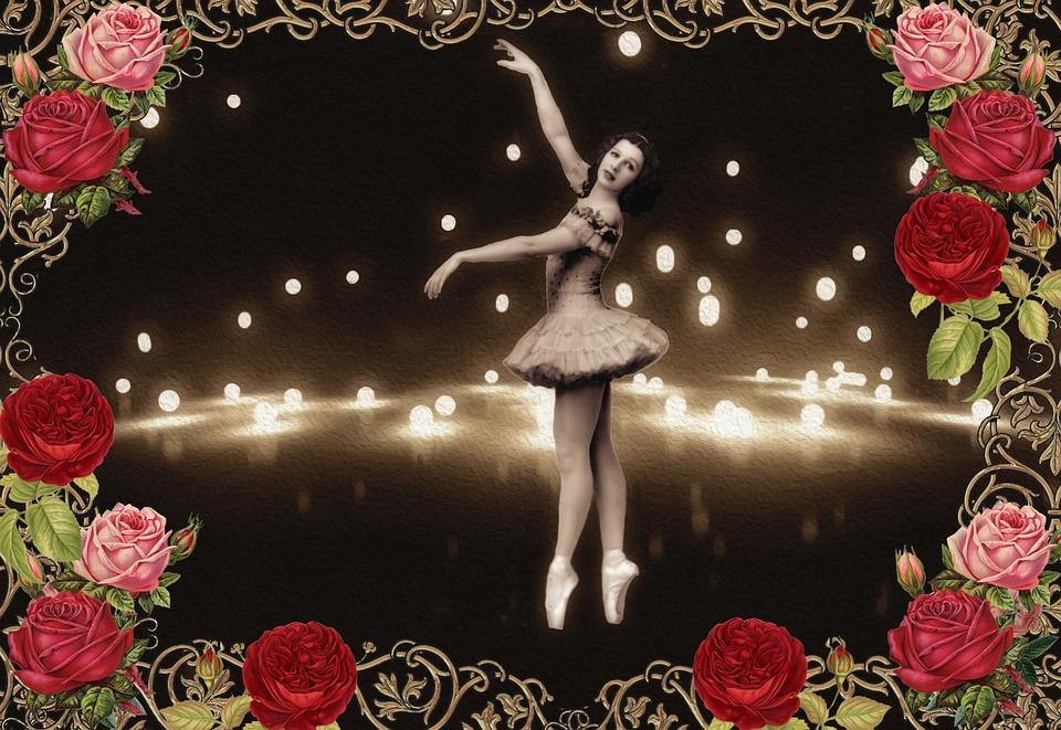 Vintage, Shabby Chic, Romantic, Ballet, Roses, Romance