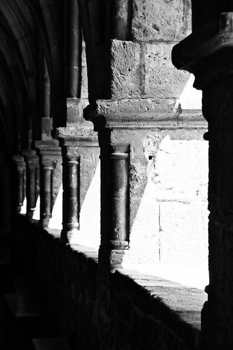 Cloister, Romanesque, Rhaeto Romanic, Arcade