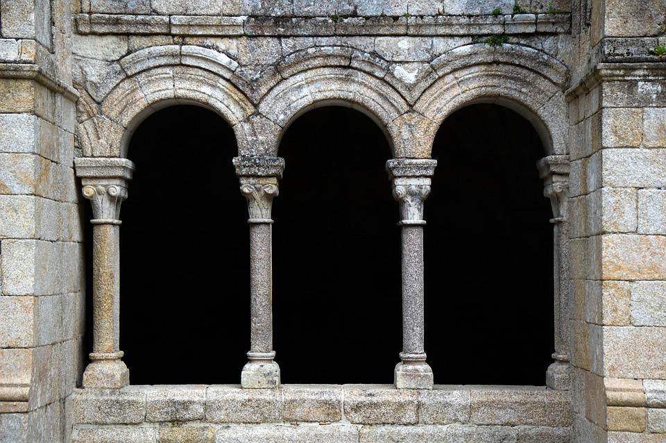 Romanesque, Cloister, Monastery, Arches, Galicia