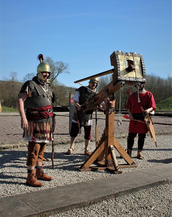 Human, Man, Military, Weapon, Romans, Catapult, Fight