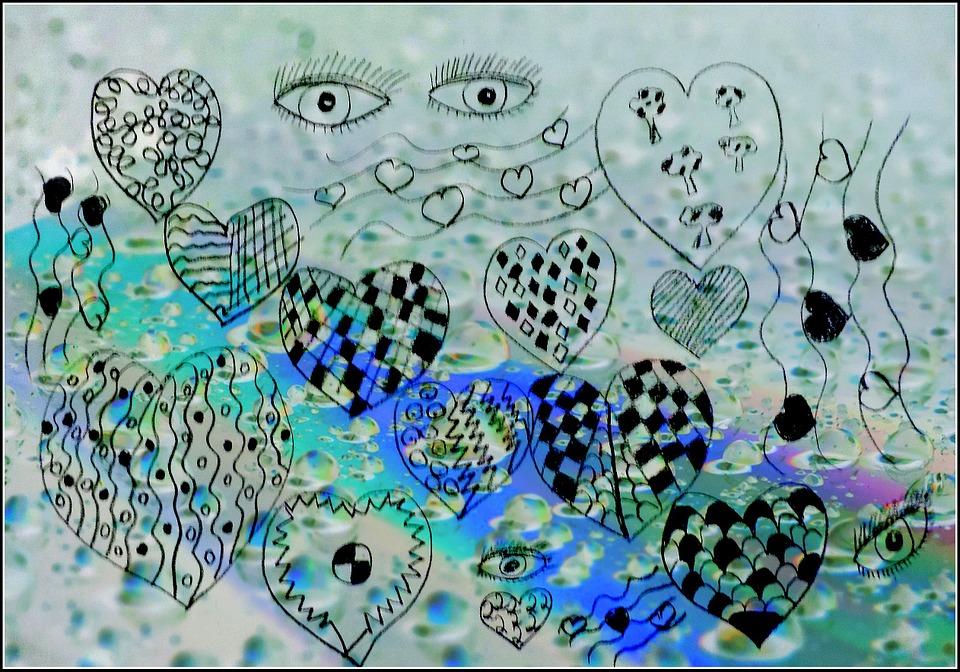 Heart, Art, Abstract, Romantic, Digital, Drawing