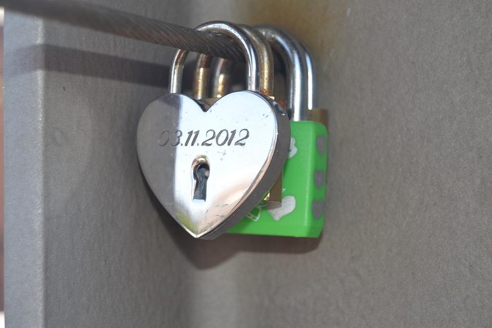 Heart, Love, Romantic, Symbol, Castle, Padlock, Emotion