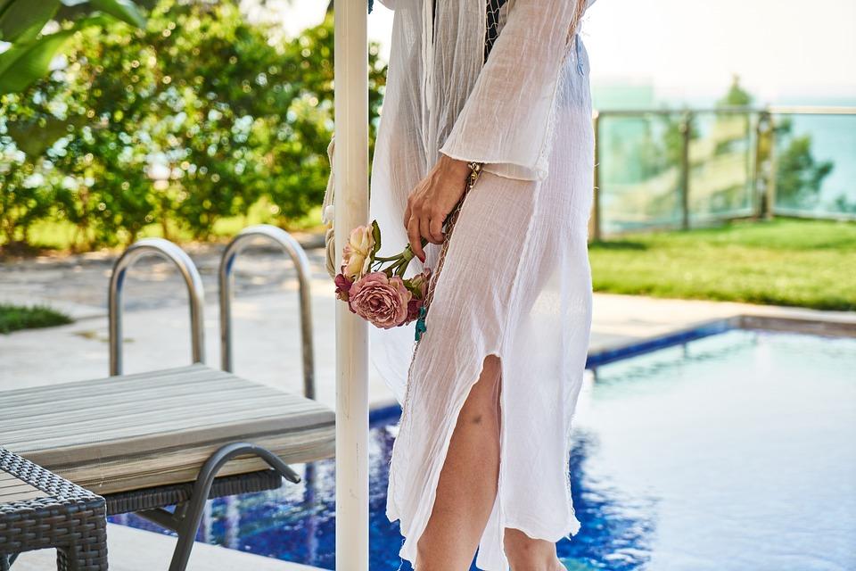 Romantic, Woman, Girl, Model, Pose, Hotel, Summer