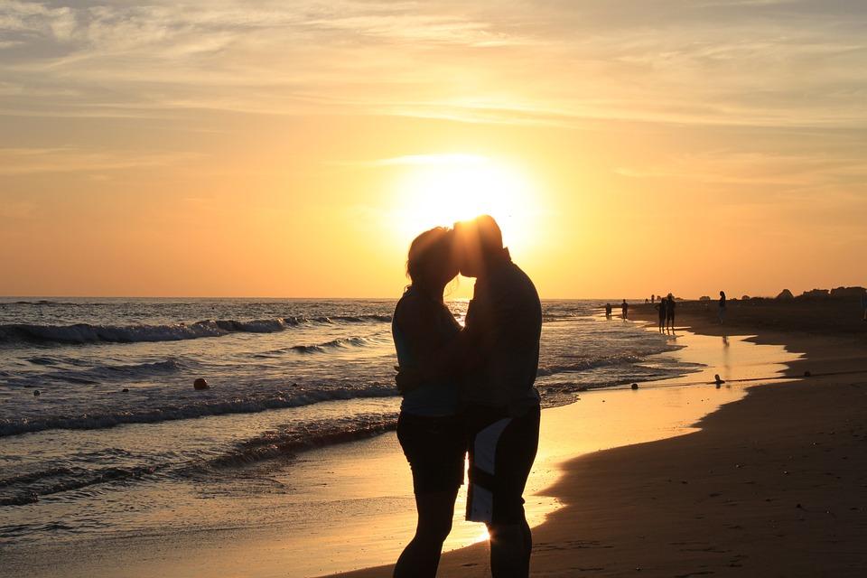Sunset, Lovers, Sea, Beach, Romantic, Love