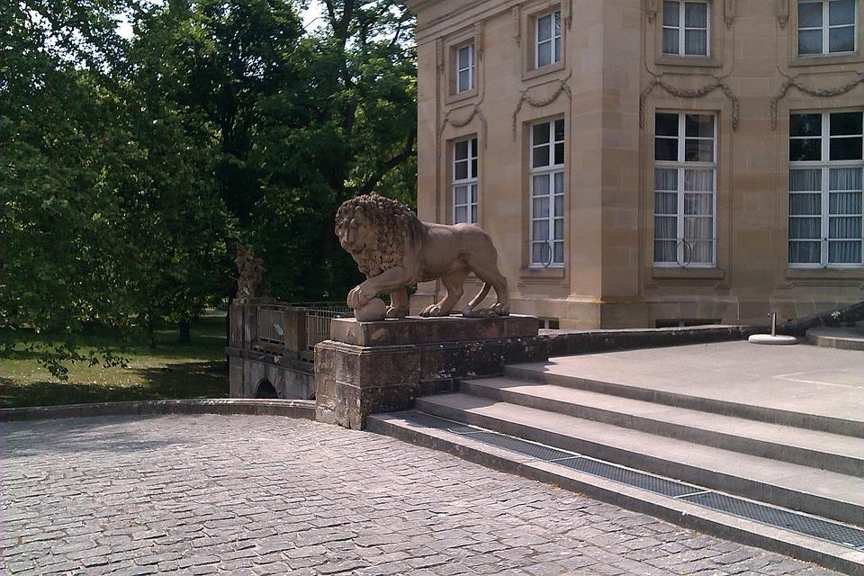 Castle, Nature, Lion, Romantic, Ludwigsburg Germany
