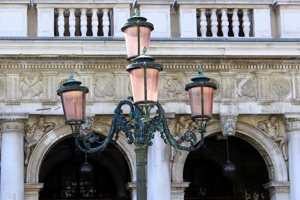 Lantern, Old, Romantic, Decorated, Old Town, Venice