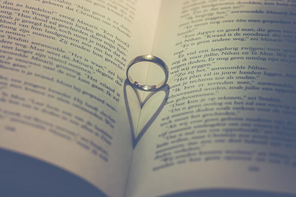 Paper, Page, Ring, Romantic, Love, Valentine