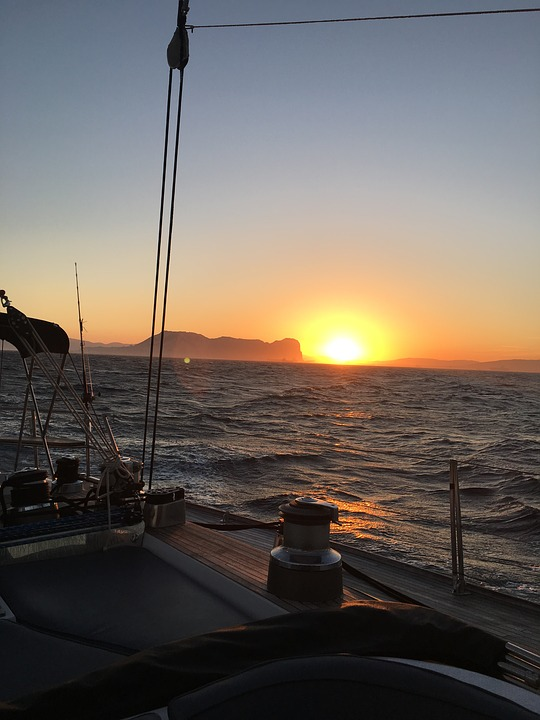 Sail, Sunset, Abendstimmung, Romantic, Sailing Boat