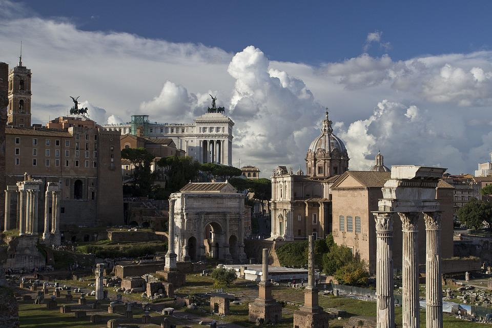 Rome, Storm, City, Antique