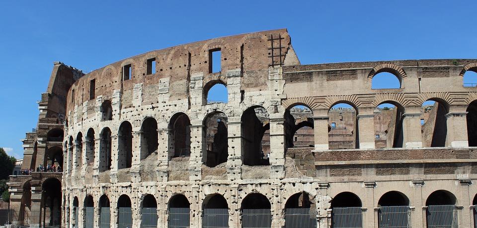 Colosseum, Rome, Italy, Building, Landmark