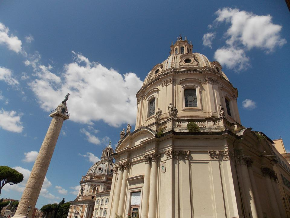 Church, Rome, Old, Forum Romanum, Landmark