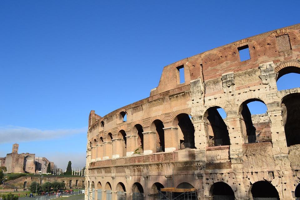 Coliseum, Italy, Rome, Arches