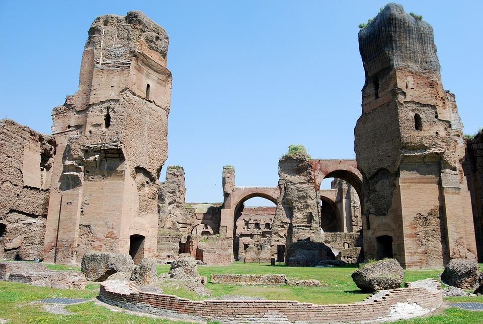 Ancient Rome, Caracalla, Terme, Rome, Italy