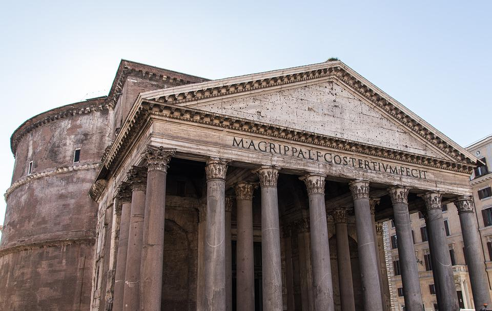 Pantheon, Rome, Italy, Architecture, Construction