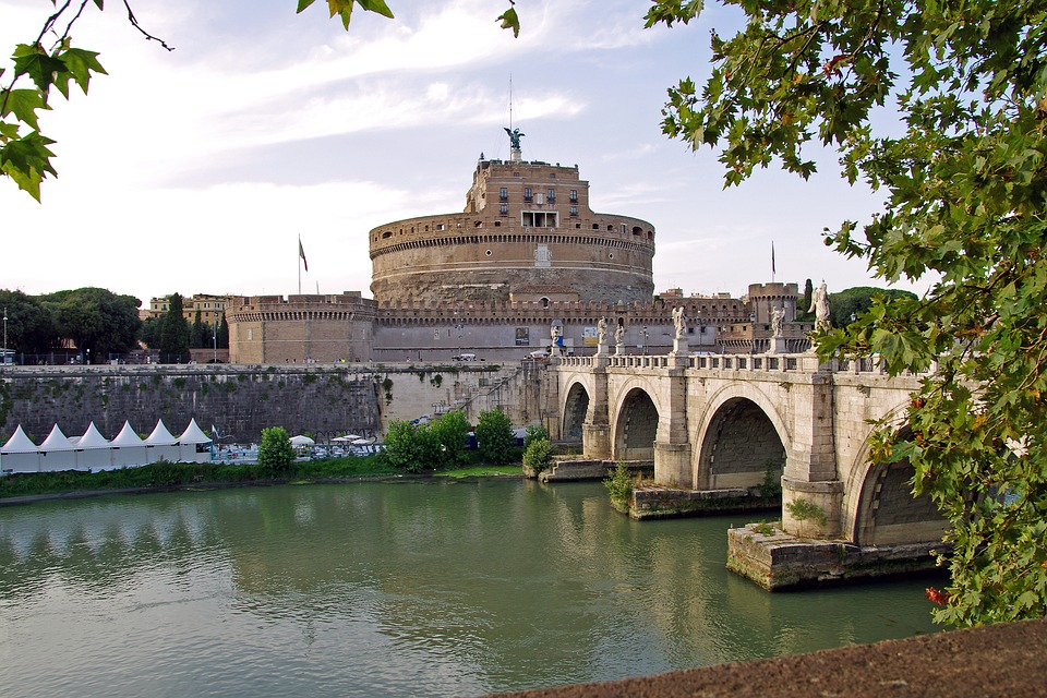 Rome, Italy, Capital, Landscape, Bridge, Tiber