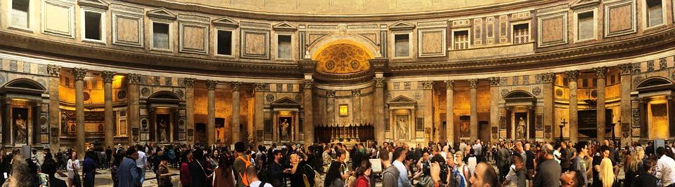 Pantheon, Basilica, Church, Rome, Italy, Catholic