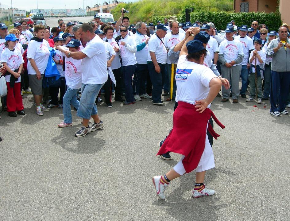 Dancing, People, San Cesareo, Rome, Italy, Magnalonga
