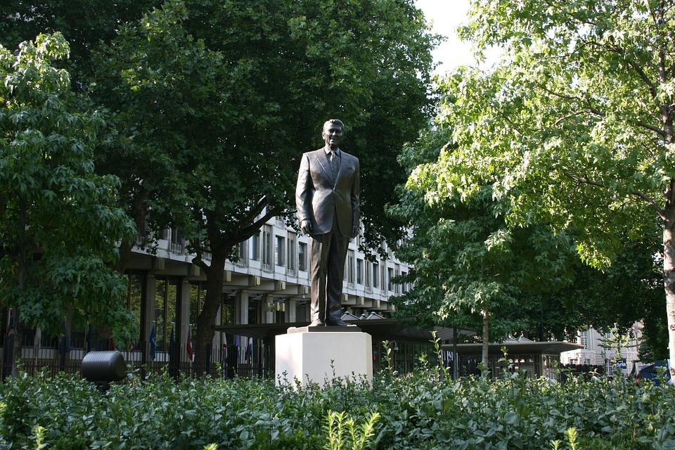Ronald Reagan, Statue, Grosvenor Square, London