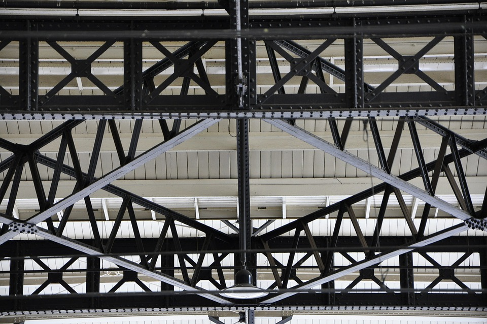 Station, Roof, Iron, Abstract, Construction