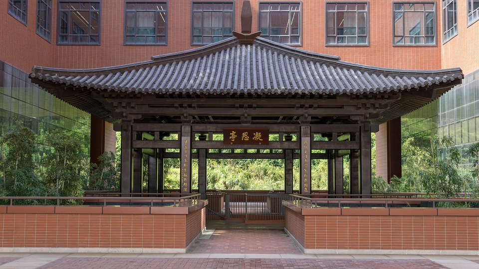 Pavilion, Building, Chinese Traditional, Roof