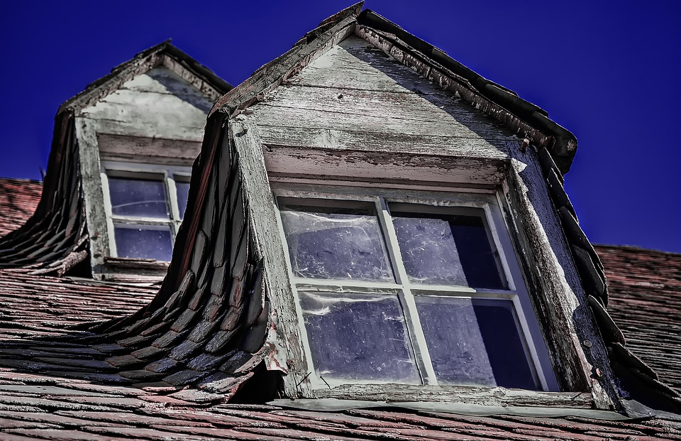 Window, Home, Old, Building, Roof, Dormer, Slate