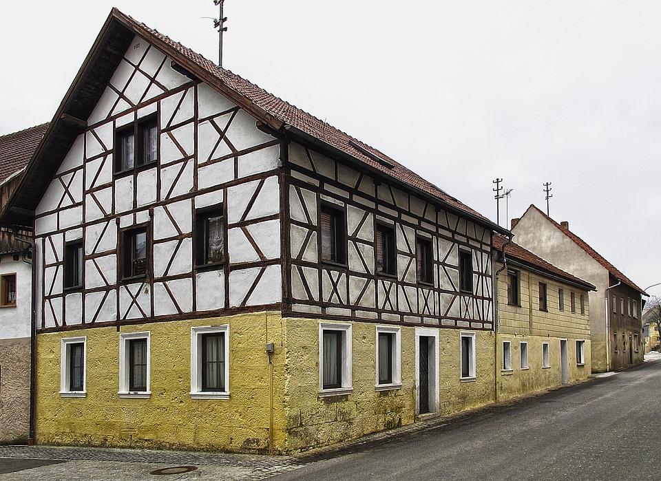 Old Town, Fachwerkhaus, Farmhouse, Building, Roof