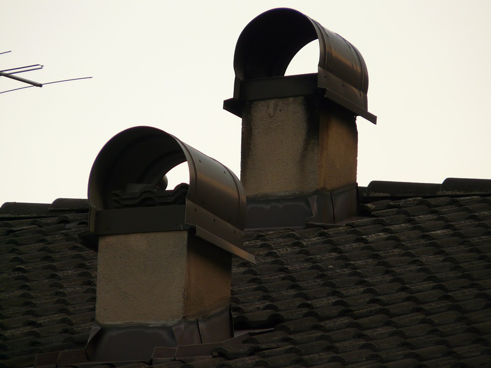 Chimney, Fireplace, Roof