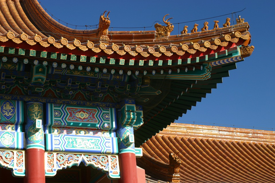 China, Roof, Temple, Forbidden City